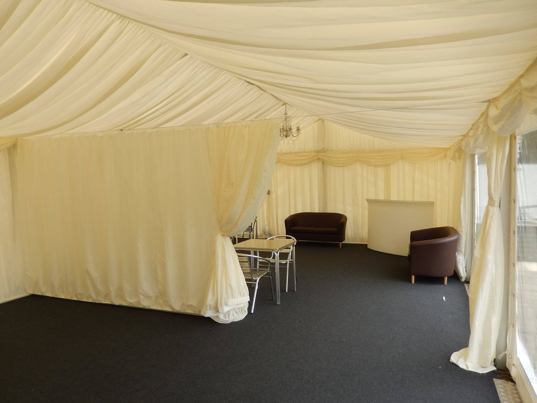 Beauty treatments and face painting marquee