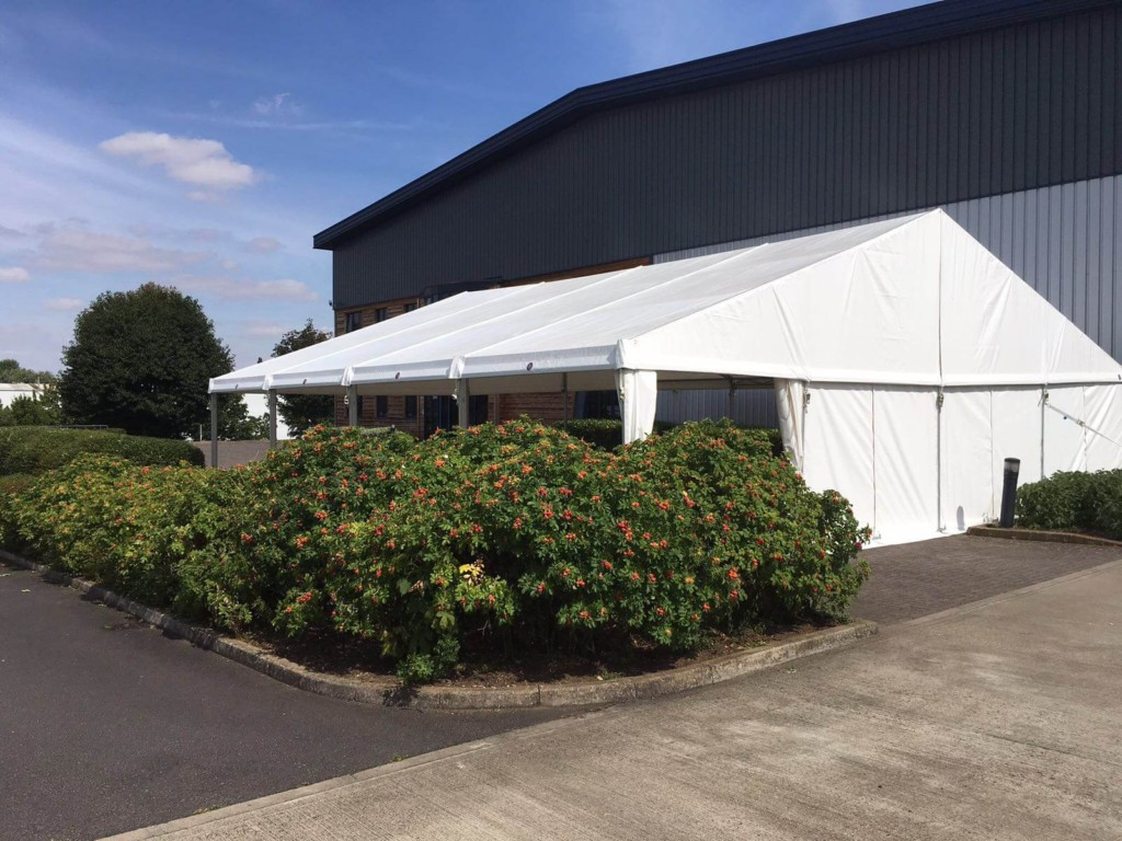 Back of 12m marquee canopy