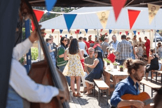 Grenson's Tea Party - 12m marquee canopy